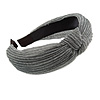 Grey with Silver Thread Fabric Flex HeadBand/ Head Band