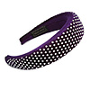 Retro Thicken Padded Velvet Diamante Wide Chunky Hair Band/ HeadBand/ Alice Band in Purple