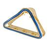 Gold Tone Blue Enamel Triangular Hair Claw/ Clamp - 75mm Across