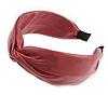 Raspberry Faux Leather Wide Chunky Flex HeadBand/ Head Band