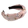 Floral Print Silk Fabric Flex HeadBand/ Head Band in Pink/ Beige/ White