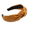 Wide Chunky Mustard PU Leather, Faux Leather Knot Hair Band/ HeadBand/ Alice Band