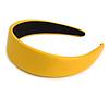 Banana Yellow Wide Chunky PU Leather, Faux Leather Hair Band/ HeadBand/ Alice Band
