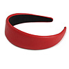 Red Wide Chunky PU Leather, Faux Leather Hair Band/ HeadBand/ Alice Band