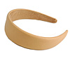 Beige Wide Chunky PU Leather, Faux Leather Hair Band/ HeadBand/ Alice Band