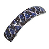 Purple/ Black Feather Motif Acrylic Square Barrette/ Hair Clip - 85mm Long