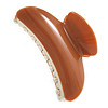 Large Brown/ Golden Marble Effect Acrylic Hair Claw/ Hair Clamp - 9cm Across