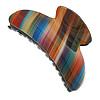 Large Shiny Multicoloured Acrylic Hair Claw/ Hair Clamp - 90mm Across