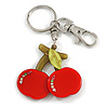 Delicious Red Cherry Key Ring/ Handbag Charm