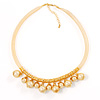 Exquisite Gold Tone Stretch Costume Necklace