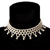 Bridal Charm Beaded Flex Choker (Light Cream)