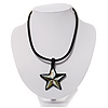 Mother of Pearl 'Star' Silk Cord Necklace - 34cm Length