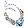 Silver Plated Charm Cameo Necklace - 38cm Length