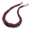 Multicolured Chunky Glass Bead Necklace - 58cm Length