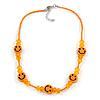 Children's Orange 'Happy Face' Necklace - 36cm Length/ 4cm Extension