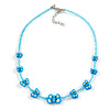 Children's Blue Butterfly Necklace - 36cm Length/ 4cm Extension