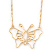 Gold Plated Open Butterfly Pendant With 36cm L/ 6cm Ext Chain