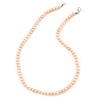 6-7mm Pale Pink Semi-Round Freshwater Pearl Necklace In Silver Tone - 43cm L