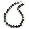 14mm Kambaba Jasper Round Semi-Precious Stone Necklace - 46cm L