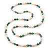 Long Rope Baroque Shape Multicoloured Freshwater Pearl Necklace - 116cm L