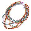 Multicoloured Multistrand Bib Style Necklace - 50cm L