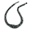 Chunky Graduated Glass Bead Necklace In Black and White - 62cm Long