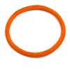 Statement Chunky Orange Beaded Stretch Choker Necklace - 44cm L