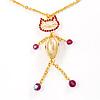 Gold Kitty Fashion Pendant