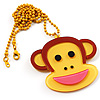 Funky Monkey Yellow Plastic Pendant