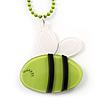 Light Green Plastic Bee Pendant