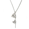 Double Heart Pendant With 38cm L/ 7cm Ext Silver Tone Chain
