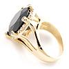 Show Off Jet-Black Crystal Costume Ring