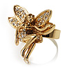 Gold-Tone Fairy Wishing Crystal Ring