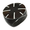 Black Resin Shell Inlay 'Stamp' Ring