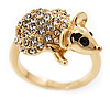Swarovski Crystal 'Mouse' Ring In Gold Plated Metal