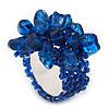 Midnight Blue Semiprecious Chip Cluster Flex Ring