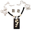 Ethnic Wooden Pendant Long Fashion Jewellery Set