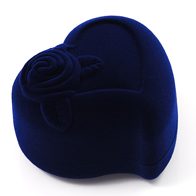 Dark Blue Heart Gift Box