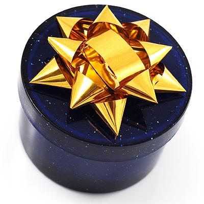 Glitter Blue Bow Ring Jewellery Box