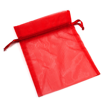 Organza Drawstring Pouch 15x20cm - Red - main view