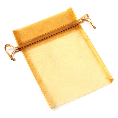 Organza Drawstring Pouch 15x20cm - Golden - main view