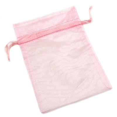 Organza Drawstring Pouch 15x20cm - Pink