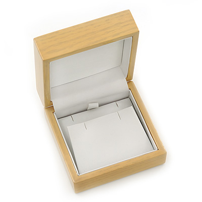 Luxury Wooden Natural Pine Earrings/Pendant Box
