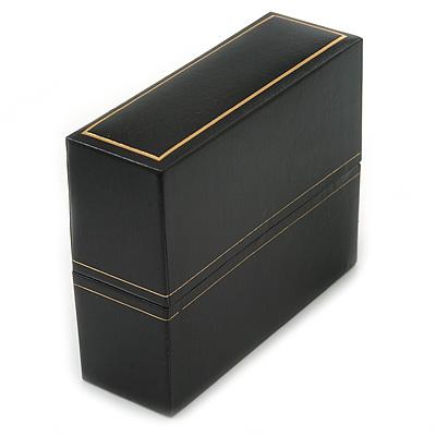 Black Leatherette Bangle/ Watch Box - main view