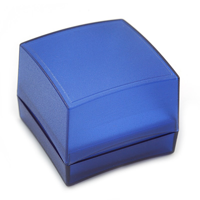 Square Blue Ring/ Stud Earrings/ Small Brooch Jewellery Box
