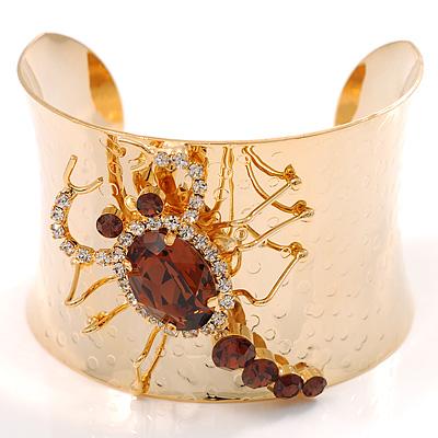 Crystal Scorpion Fashion Bangle Bracelet - avalaya.com