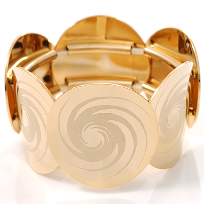 Gold Stretch Circle Fashion Bracelet - avalaya.com