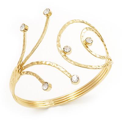 Gold Plated Crystal Armlet Bangle
