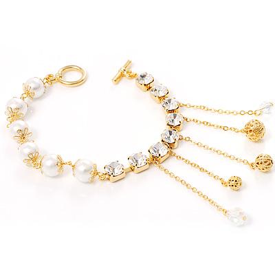 Disco Glass Pearl Bracelet