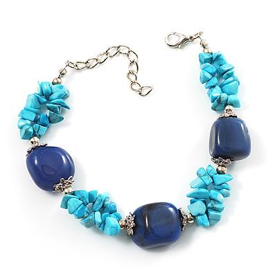 Stunning Turquoise Stone & Resin Bead Fashion Bracelet